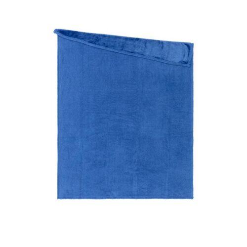 Edelzeit - Heimtextilien in Felloptik Lammfellimitat Decke blau