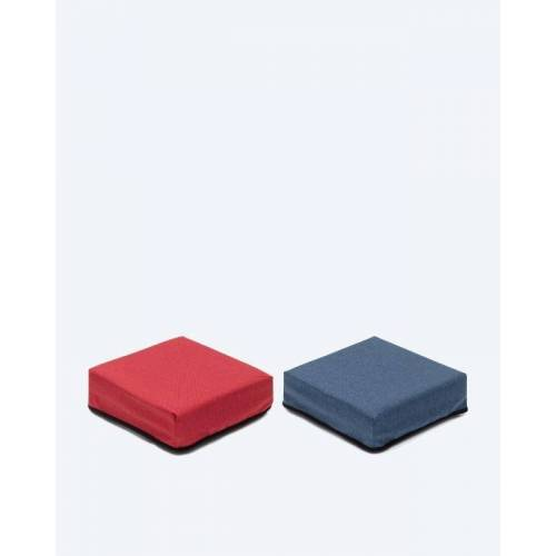 Clevaful Wechselbezüge für Hocker 2x 2 Stk. rot/blau