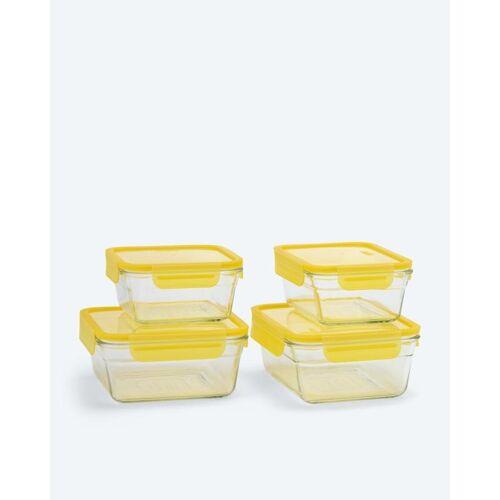 Glasslock Glasslock Set - ofenfest, 4tlg. gelb