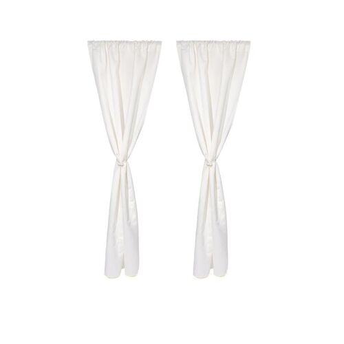 Clever Fix Vorhang-Set mit magnetischem Raffhalter weiß