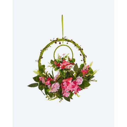 Lumesso Frühlingskranz 2in1 mit LEDs rosa