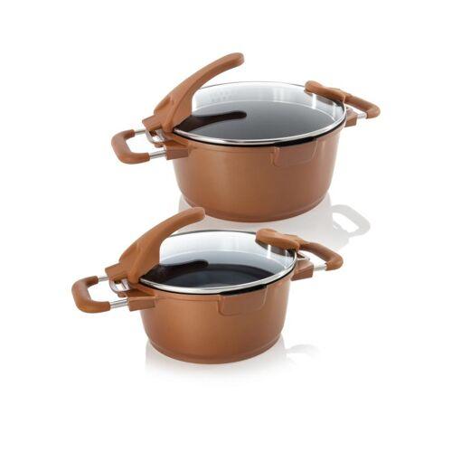 Cucinella Aluguss Topfset Smart, 2tlg. kupfer