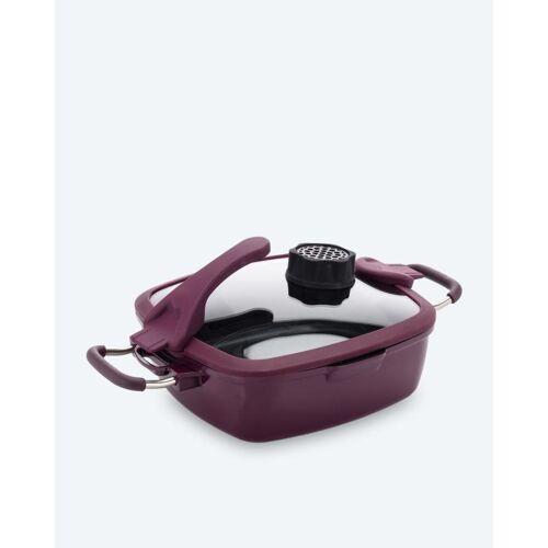 Cucinella Viereckpfanne mit Filter 24 cm aubergine