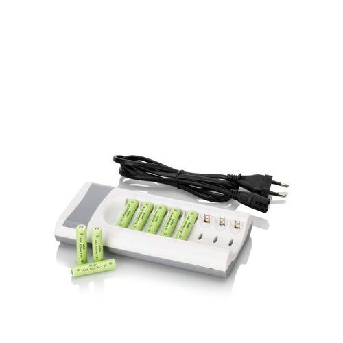 HSE Ladegerät + 8 aufladbare AAA Batterien