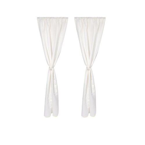 HSE Vorhang-Set mit magnetischem Raffhalter weiß
