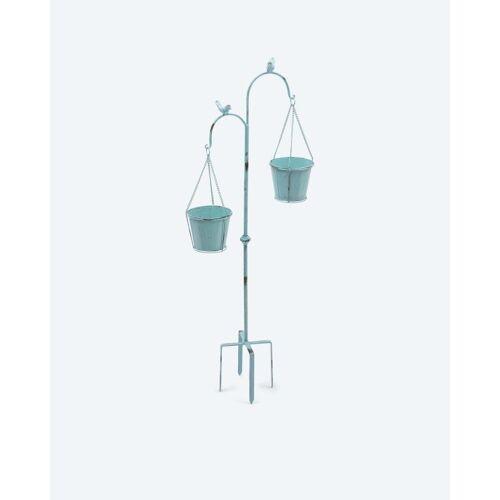 HSE 2 hängende Pflanzentöpfe mit Erdspieß
