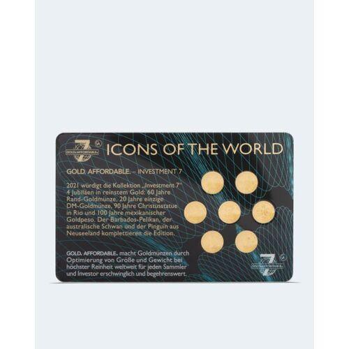 Sammlermünzen Reppa Goldmünzen Investment 7 2021, 7tlg.