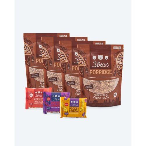 3Bears Porridge-Set, 4x 400 g + 3x Pocket Porridge