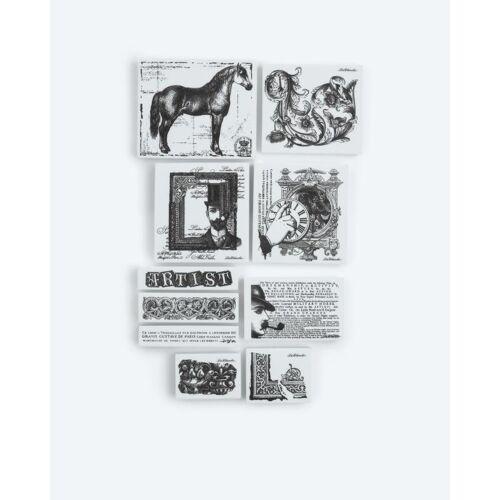 "LaBlanche Home-Dekoration Stempel-Set ""Artist""; 10tlg."