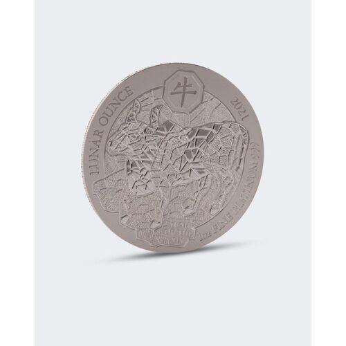 Sammlermünzen Reppa Platin-Münze Jahr des Ochsen 2021