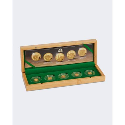 Sammlermünzen Reppa Goldmünzen 5er-Set Panda Zoos