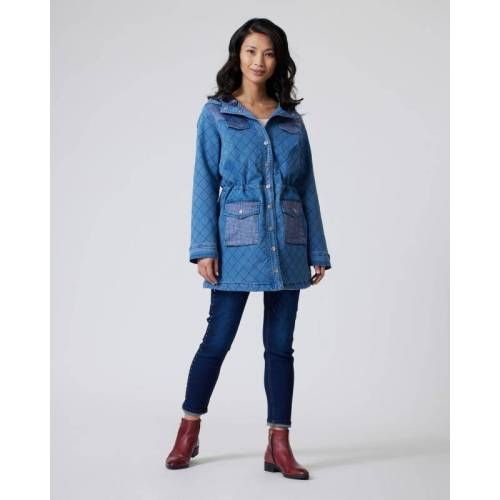 Maloo Jeans-Parka jeansblau