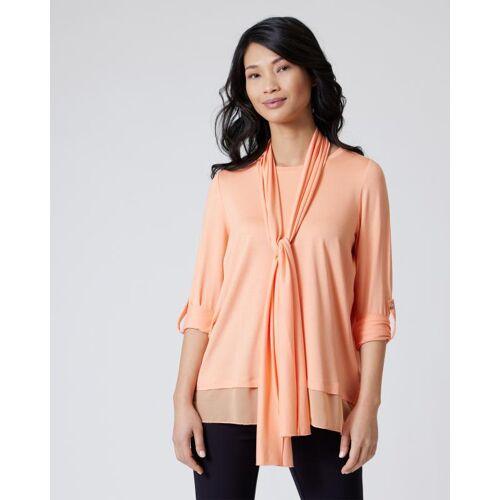 Nala Shirt mit Chiffoneinsatz & Schal melone