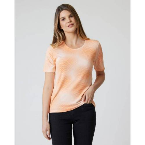 Helena Vera Shirt mit Dip-Dye-Druck pfirsich