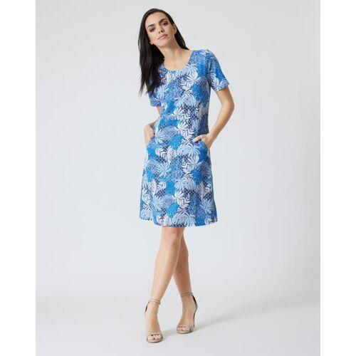 Helena Vera Kleid mit Botanik-Print blau