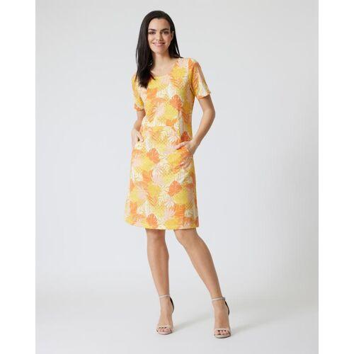 Helena Vera Kleid mit Botanik-Print gelb