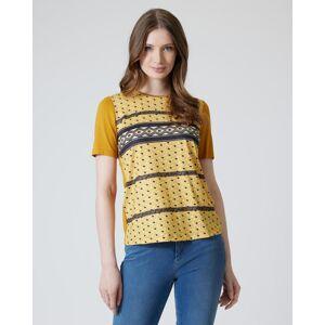 Helena Vera Shirt mit Muster-Mixdruck goldgelb