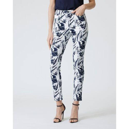 Fiora Blue 5-Pocket-Jeans mit Druck weiß