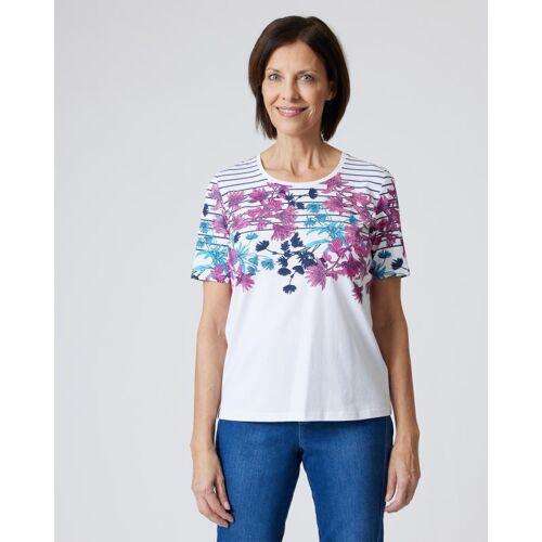 Fiora Blue Shirt mit Blumenprint