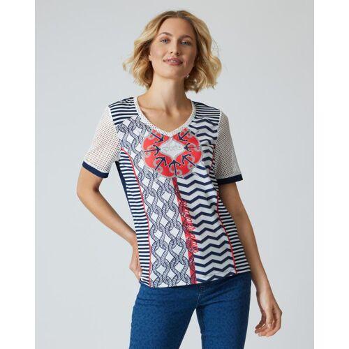 NYLAH by Franzi Knuppe Shirt mit Nautik-Druck