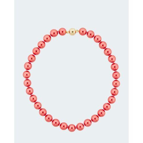 Pfeffinger Collier aus MK-Perlen 12 mm rot
