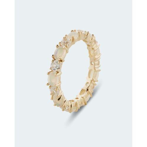 Terra Opalis Ring mit Kristallopal und Zirkon