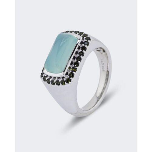 La Luna Design in Silber Ring mit Chalzedon und Turmalin