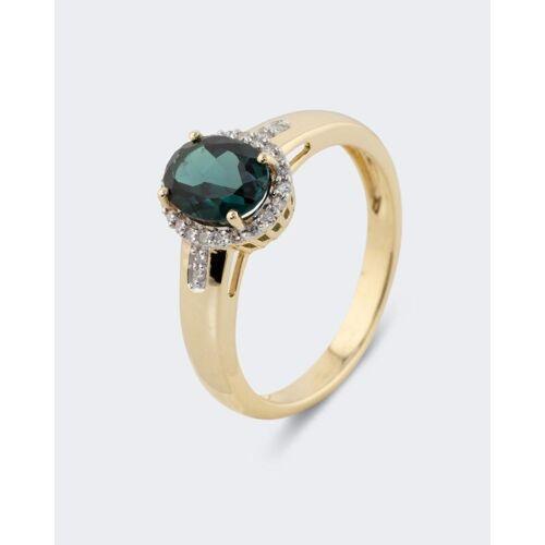 Harry Ivens Ring mit Indigolith und Diamant