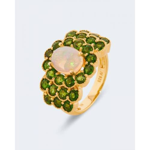 Harry Ivens Ring mit Opal & Chromdiopsiden
