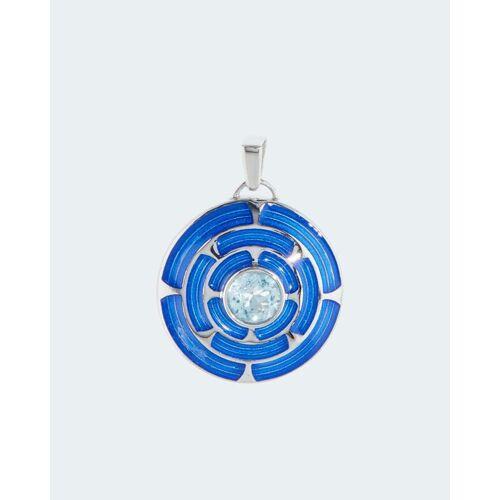 La Luna Design in Silber Anhänger mit Blautopas
