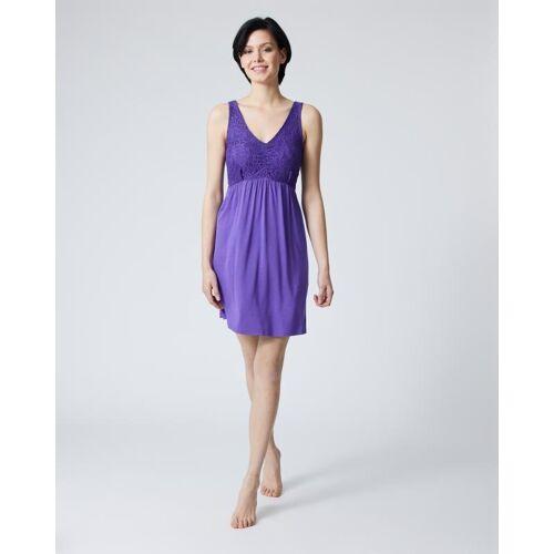Pfeffinger Nachthemd mit Spitze violett