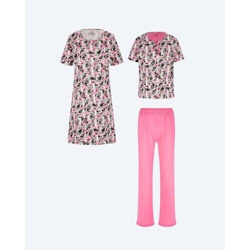 Joliena Collection Pyjama & Nachthemd, 3tlg. bunt