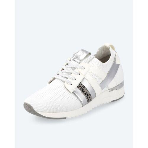 BE GOLD Strick-Sneaker weiß
