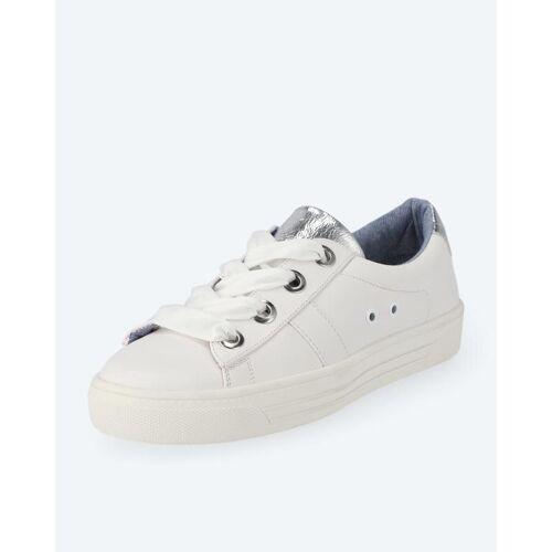 BE GOLD Sneaker mit Stoffschnürsenkeln weiß