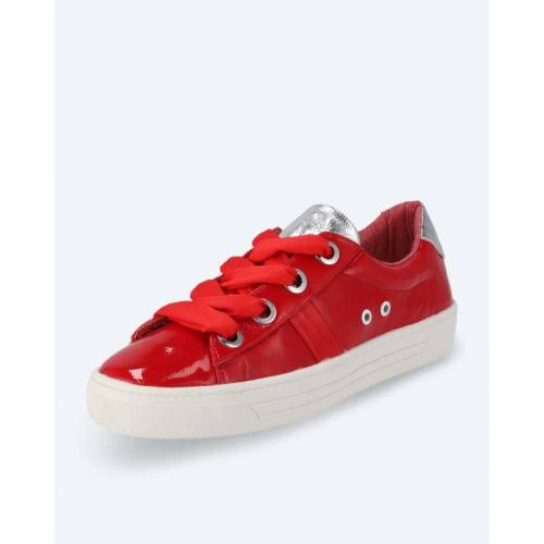 BE GOLD Sneaker mit Stoffschnürsenkeln rot