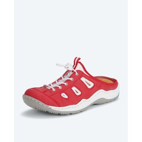 Rieker Slipper mit Schnellverschluss rot