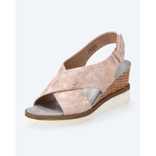 BE GOLD Sandalette mit Keilabsatz altrosa