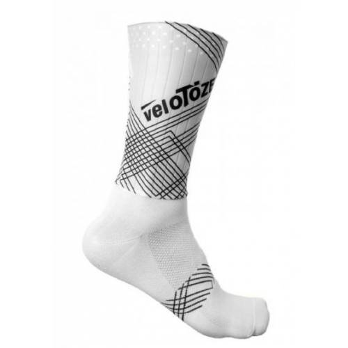 veloToze fahrradsocken Aero Sock nylon weiß Größe S/M