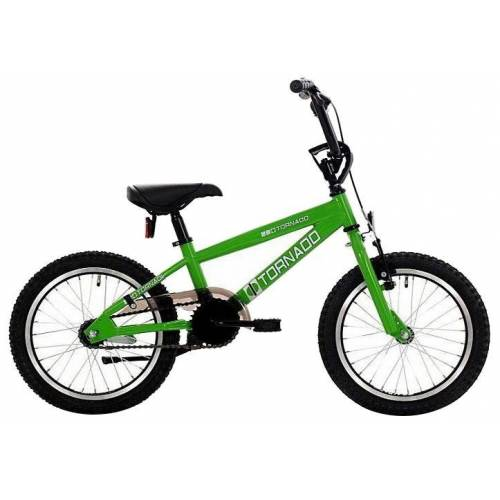 Bike Fun Cross Tornado 16 Zoll 34 cm Junior Rücktrittbremse Grün