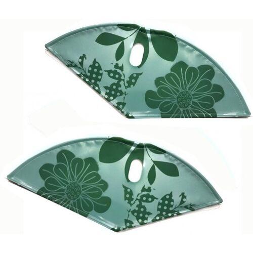 BLS kleiderschutz Lacktuch 28 Zoll 57 cm Blumen grün
