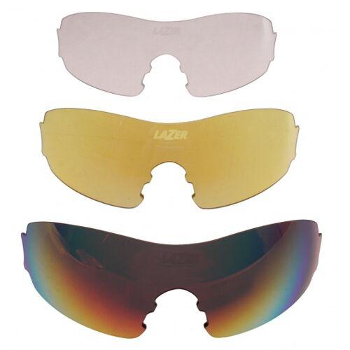 Lazer brillen Set Fahrradbrille M1 Srot/gelb/transparent
