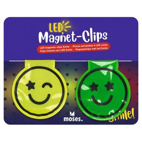 Moses reflexionsmagnet junior 3,5 cm led grün/gelb 2 teilig
