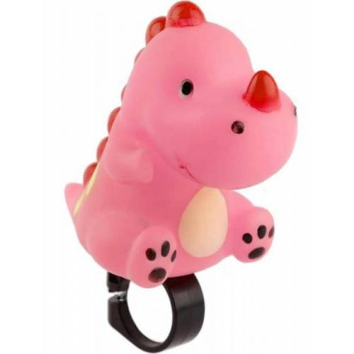 Pexkids fahrradhupe Neushoorn rosa 10 cm