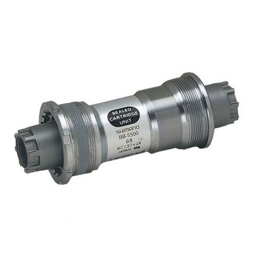 Shimano tretlager 105 BB 5500 BSA 68 118,5mm Silber