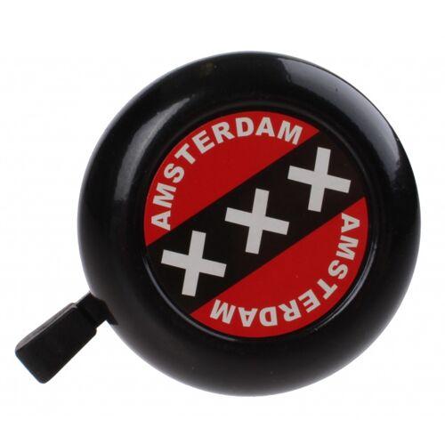 TOM amsterdam Fahrradklingel 50 mm schwarz/rot