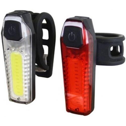 Cycle Tech beleuchtungsset Silikon LED 35/80 Lux Batterie schwarz