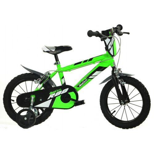 Dino 414U R88 14 Zoll 24 cm Jungen Felgenbremse Grün Kinderfahrräder