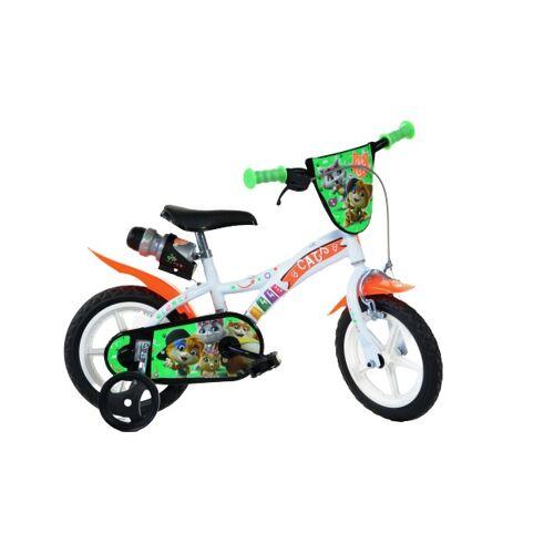 Dino 44 Cats 12 Zoll 21 cm Jungen Felgenbremse Weiß Kinderfahrräder