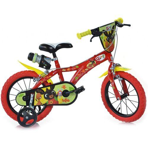 Dino Bing 14 Zoll 24 cm Jungen Felgenbremse Rot Kinderfahrräder