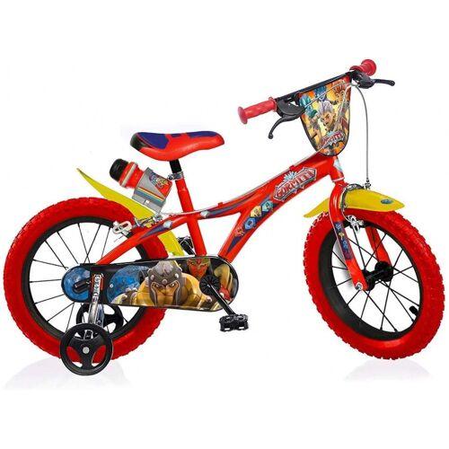 Dino Gormiti 14 Zoll 24 cm Jungen Felgenbremse Rot Kinderfahrräder